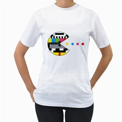 Color Eater Womens  T-shirt (White) by Contest1753604