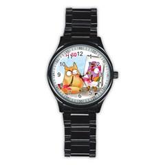 Picatso By Pookiecat Sport Metal Watch (black) by PookieCat