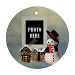 Snowman Village Ornament - Ornament (Round)