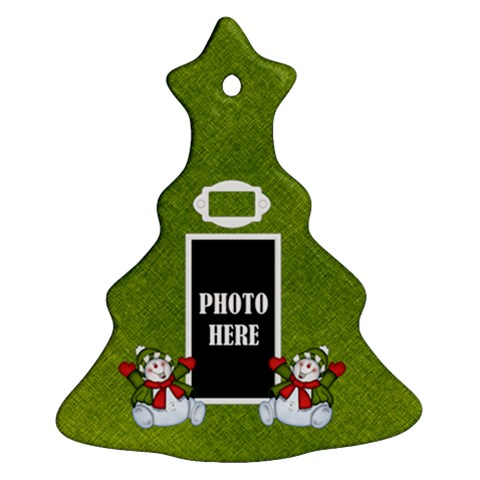 Snowman Tree Ornament By Lisa Minor   Ornament (christmas Tree)    Vz9rpaip8kgi   Www Artscow Com Front
