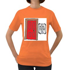 A Knock In My Door Womens' T Shirt (colored) by Contest1720196