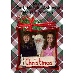 Christmas Card By Margie Whiting   Greeting Card 5  X 7    Yntaqhckdgfg   Www Artscow Com Front Inside