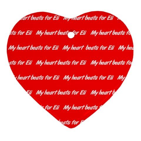Eli2 By Dannielle   Ornament (heart)   Vdoxpwlsbeyo   Www Artscow Com Front