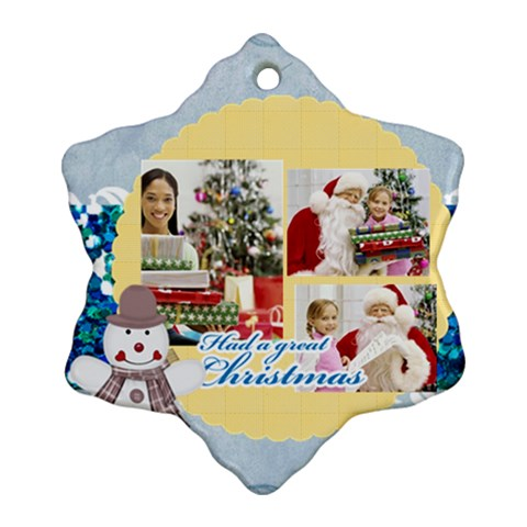Merry Christmas By Merry Christmas   Ornament (snowflake)   Wtgiqlsl58e8   Www Artscow Com Front