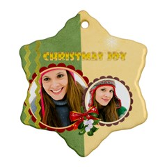 Merry Christmas By Merry Christmas   Snowflake Ornament (two Sides)   C6g2ld4f5f1e   Www Artscow Com Front