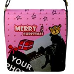 CHRISTMAS FLAP CLOSURE BAG - Flap Closure Messenger Bag (S)