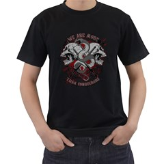 We Are More Mens' Two Sided T-shirt (Black) by Contest993860