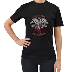 We Are More Womens' Two Sided T-shirt (Black) by Contest993860