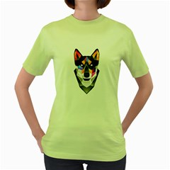 WOLF Womens  T-shirt (Green) by Contest1741741
