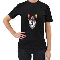 Wolf Womens' Two Sided T Shirt (black) by Contest1741741
