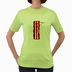 D-don t eat me Womens  T-shirt (Green) by Contest1732527