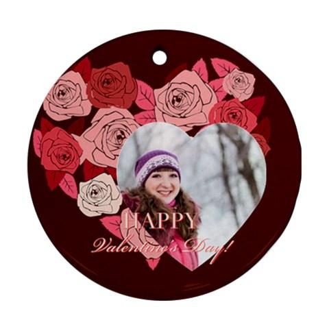 Love By Ki Ki   Ornament (round)   Cbznj4ol7yjn   Www Artscow Com Front