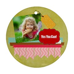 Kids By Kids   Round Ornament (two Sides)   4gkhwixjjm05   Www Artscow Com Front