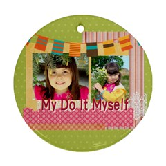 Kids By Kids   Round Ornament (two Sides)   Ju2f16fc461o   Www Artscow Com Back