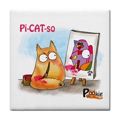 Pookiecat   Picatso  Face Towel by PookieCat