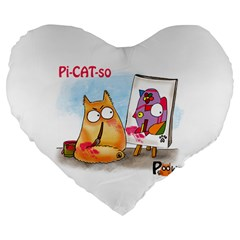 Pookiecat   Picatso  19  Premium Heart Shape Cushion