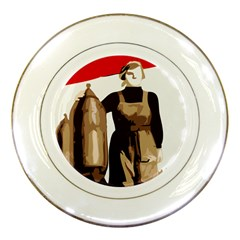 Power  To The Masses Porcelain Plate by youshidesign
