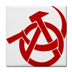Hammer Sickle Anarchy Ceramic Tile by youshidesign