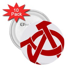 Hammer Sickle Anarchy 2 25  Button (10 Pack) by youshidesign