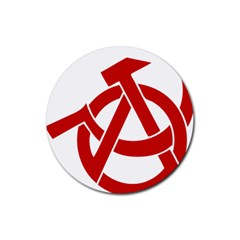 Hammer Sickle Anarchy Drink Coasters 4 Pack (round) by youshidesign