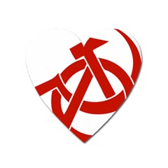 Hammer Sickle Anarchy Magnet (heart) by youshidesign