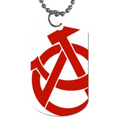 Hammer Sickle Anarchy Dog Tag (one Sided) by youshidesign