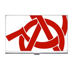 Hammer Sickle Anarchy Business Card Holder by youshidesign