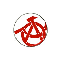 Hammer Sickle Anarchy Golf Ball Marker 10 Pack (for Hat Clip) by youshidesign