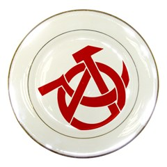 Hammer Sickle Anarchy Porcelain Display Plate by youshidesign