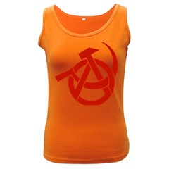 Hammer Sickle Anarchy Womens  Tank Top (dark Colored) by youshidesign