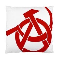 Hammer Sickle Anarchy Cushion Case (single Sided)  by youshidesign