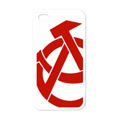 Hammer Sickle Anarchy Apple Iphone 4 Case (white) by youshidesign
