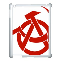 Hammer Sickle Anarchy Apple Ipad 3/4 Case (white) by youshidesign