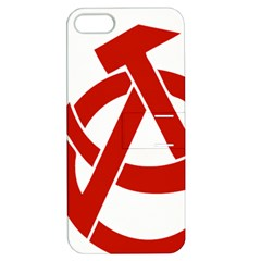 Hammer Sickle Anarchy Apple Iphone 5 Hardshell Case With Stand by youshidesign