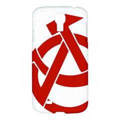 Hammer Sickle Anarchy Samsung Galaxy S4 I9500/i9505 Hardshell Case by youshidesign