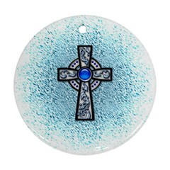 Cross Round Ornament (two Sides) by Contest1680728