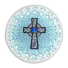 Cross Round Filigree Ornament (two Sides) by Contest1680728