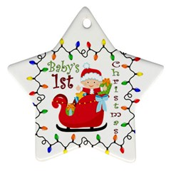 Baby s 1st Christmas Star Ornament (two Sides) by Contest1707632