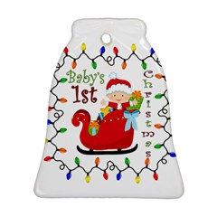 Baby s 1st Christmas Bell Ornament (Two Sides) by Contest1707632