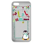 Christmas Penguin iPhone case - Apple Seamless iPhone 5 Case (Clear)