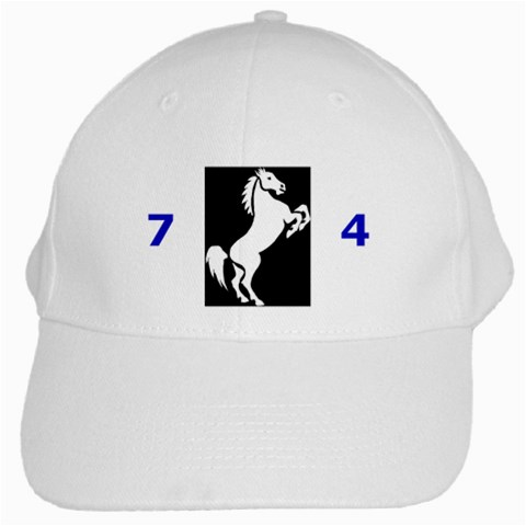 Mustang Hat By Judy   White Cap   Rt479400n2bl   Www Artscow Com Front