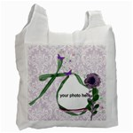 Purple damask and green Recycle Bag (2 side) - Recycle Bag (Two Side)