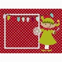 Elf Christmas Card 7x5 By Zornitza   5  X 7  Photo Cards   4bqyh44znay9   Www Artscow Com 7 x5 Photo Card - 4
