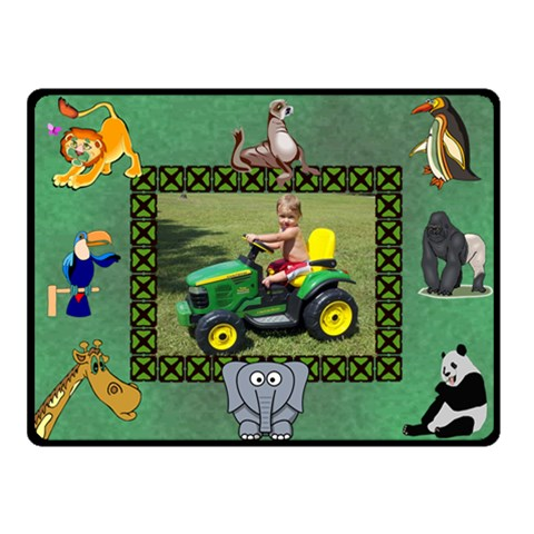 Kid s Zoo Small Blanket By Joy Johns   Fleece Blanket (small)   1gnhjsbphdur   Www Artscow Com 50 x40 Blanket Front