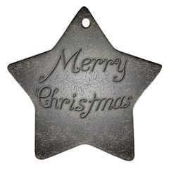 Metal Merry Christmas Star Ornament by Contest1609615