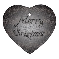 Metal Merry Christmas Heart Ornament (two Sides) by Contest1609615