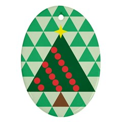 Holiday Triangles Oval Ornament by ContestDesigns