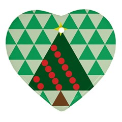 Holiday Triangles Heart Ornament (two Sides) by ContestDesigns