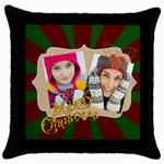 merry christmas - Throw Pillow Case (Black)