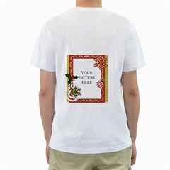 Christmas T Shirt By Lillyskite   Men s T Shirt (white) (two Sided)   Pot61m938gwz   Www Artscow Com Back